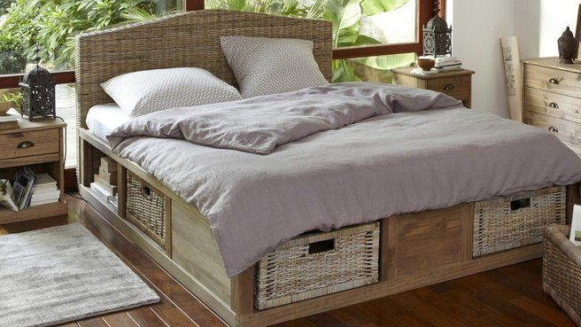 lit adulte osier. Black Bedroom Furniture Sets. Home Design Ideas