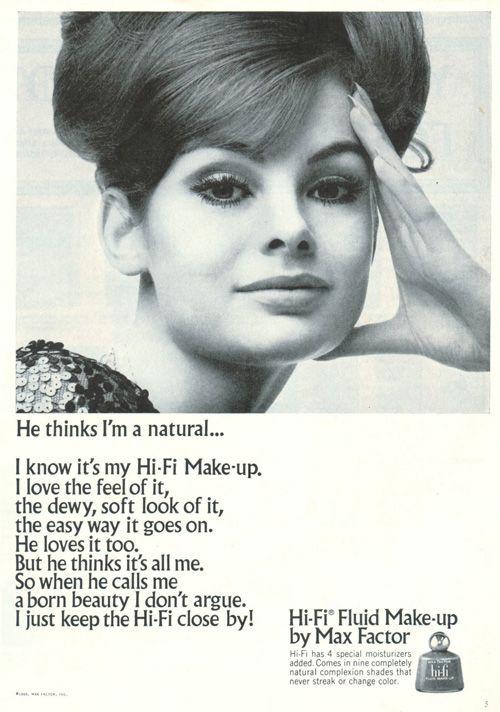 Hi Fi Fluid Make Up By Max Factor 1969 Vintage Makeup Beauty - 1920s-makeup-ads