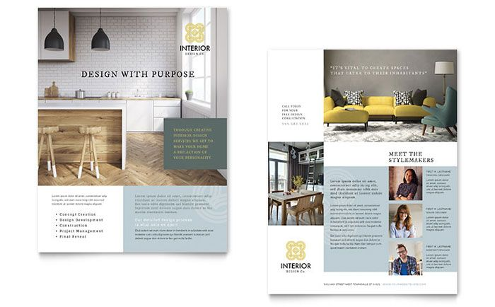 Interior Design Datasheet Template Design by StockLayouts - product data sheet template