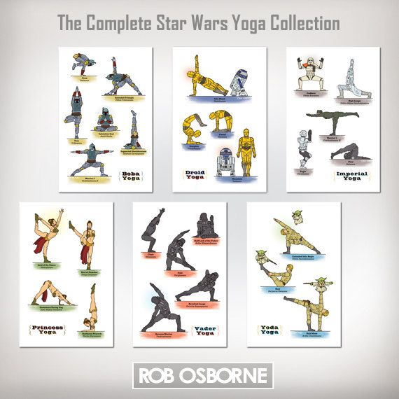 complete Star Wars yoga collection. $89.00