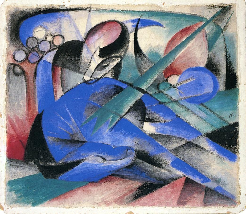 Horse Asleep - Franz Marc, 1913