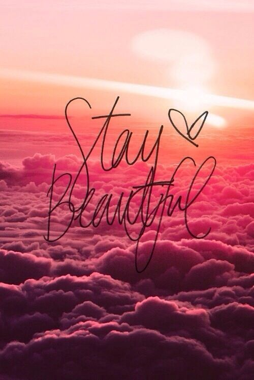Stay Beautiful Honey Pink Iphone Wallpaper Girly Cute Girl