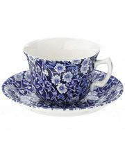 Calico Teacup and Saucer- Burleigh