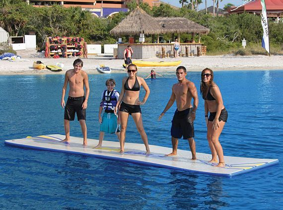Water Floats For S Inflatable Walk On Mat Makes Fun At