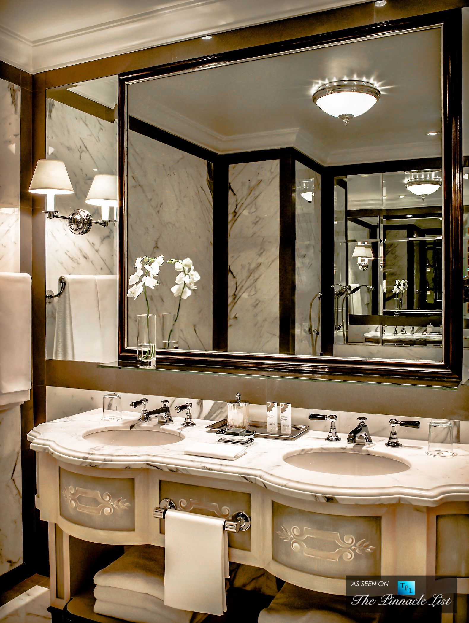St Regis Luxury Hotel Florence Italy Bathroom With Tv