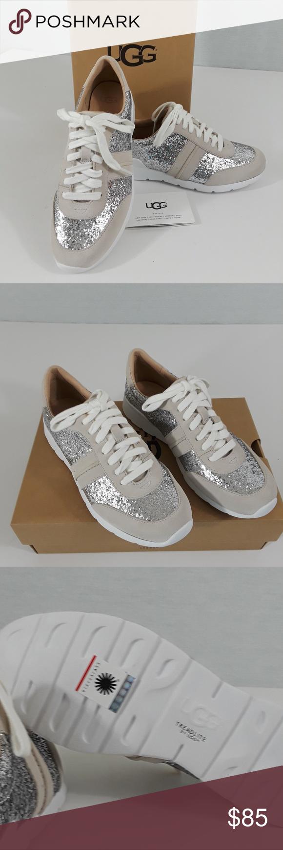 a369eb2e884 UGG Jaida Glitter Suede Sneaker - sz 6 NIB Lightweight sneaker with ...