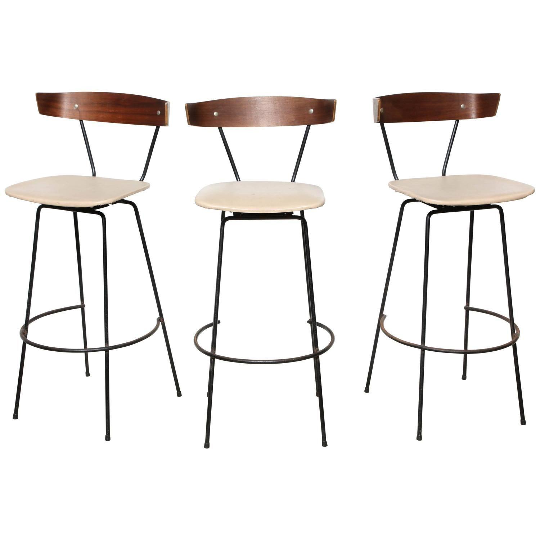 Set Of 3 Clifford Pascoe Bar Stools 1