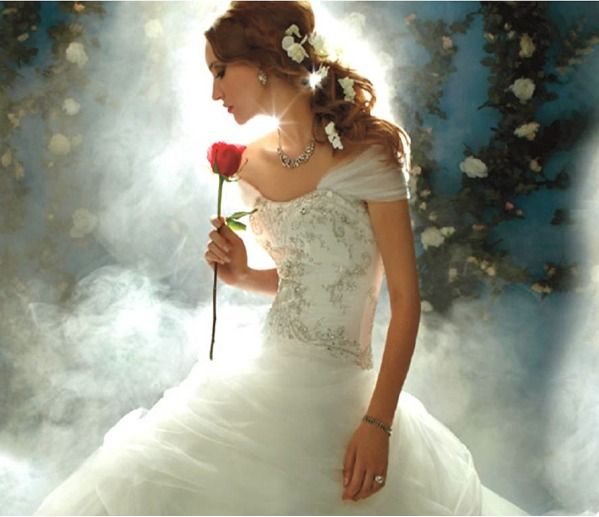 Disney Inspired Wedding Dresses Once Upon A Time With Belle Ever