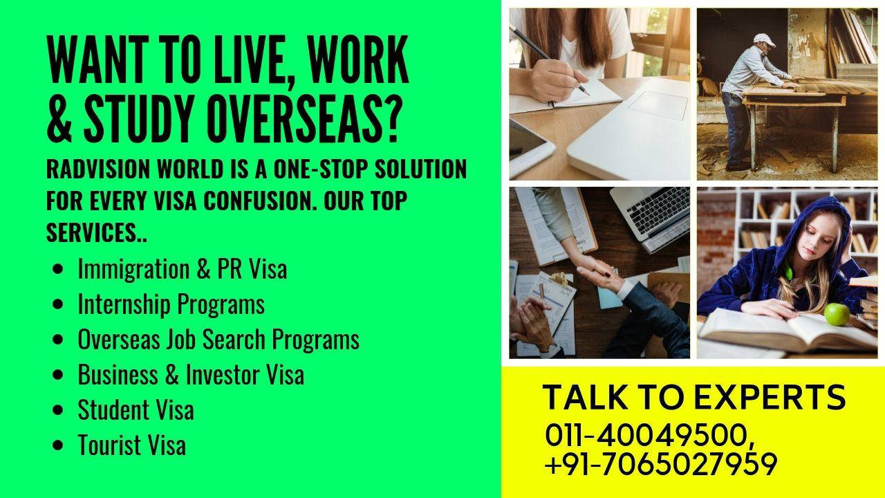 home Overseas jobs, Internship program, Business investors