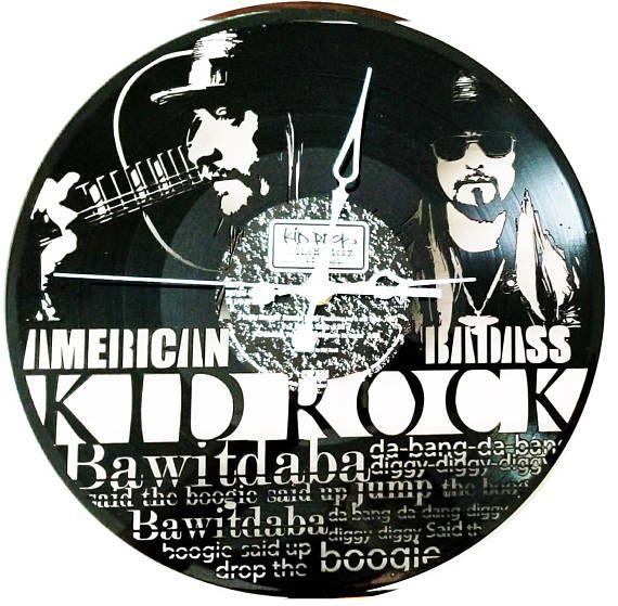 Check Out This Item In My Etsy Shop Https Www Etsy Com Listing 552020782 Kid Rock Vinyl Record Clocks Wall Cloc Vinyl Record Clock Record Clock Vinyl Records