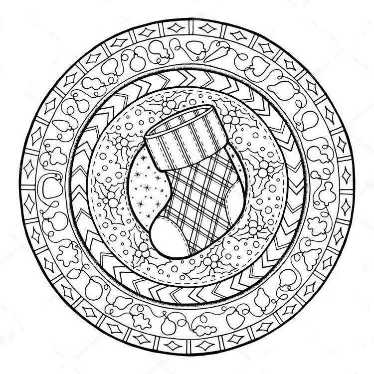 Mandala no l 30 id es gratuites imprimer pour petits et grands mandala noel activit s - Activite manuelle adulte gratuite ...