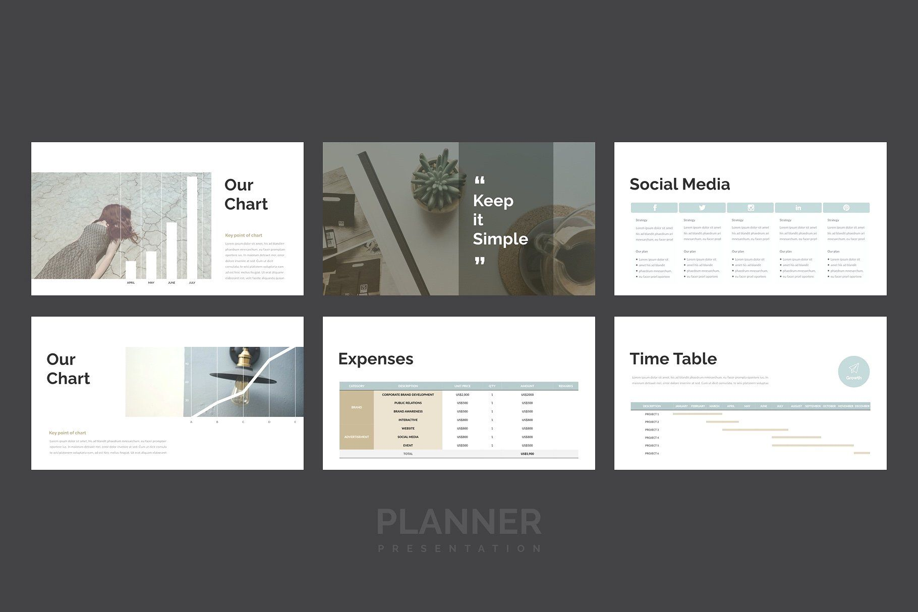 Planner PowerPoint Template by Simple P. on
