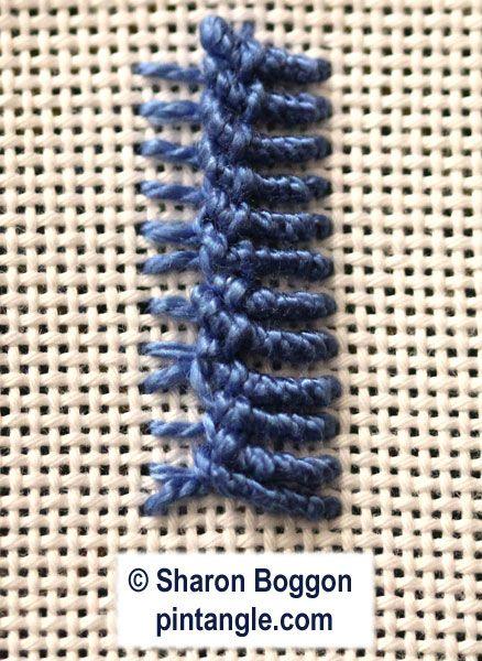 Bullion Vandyke stitch