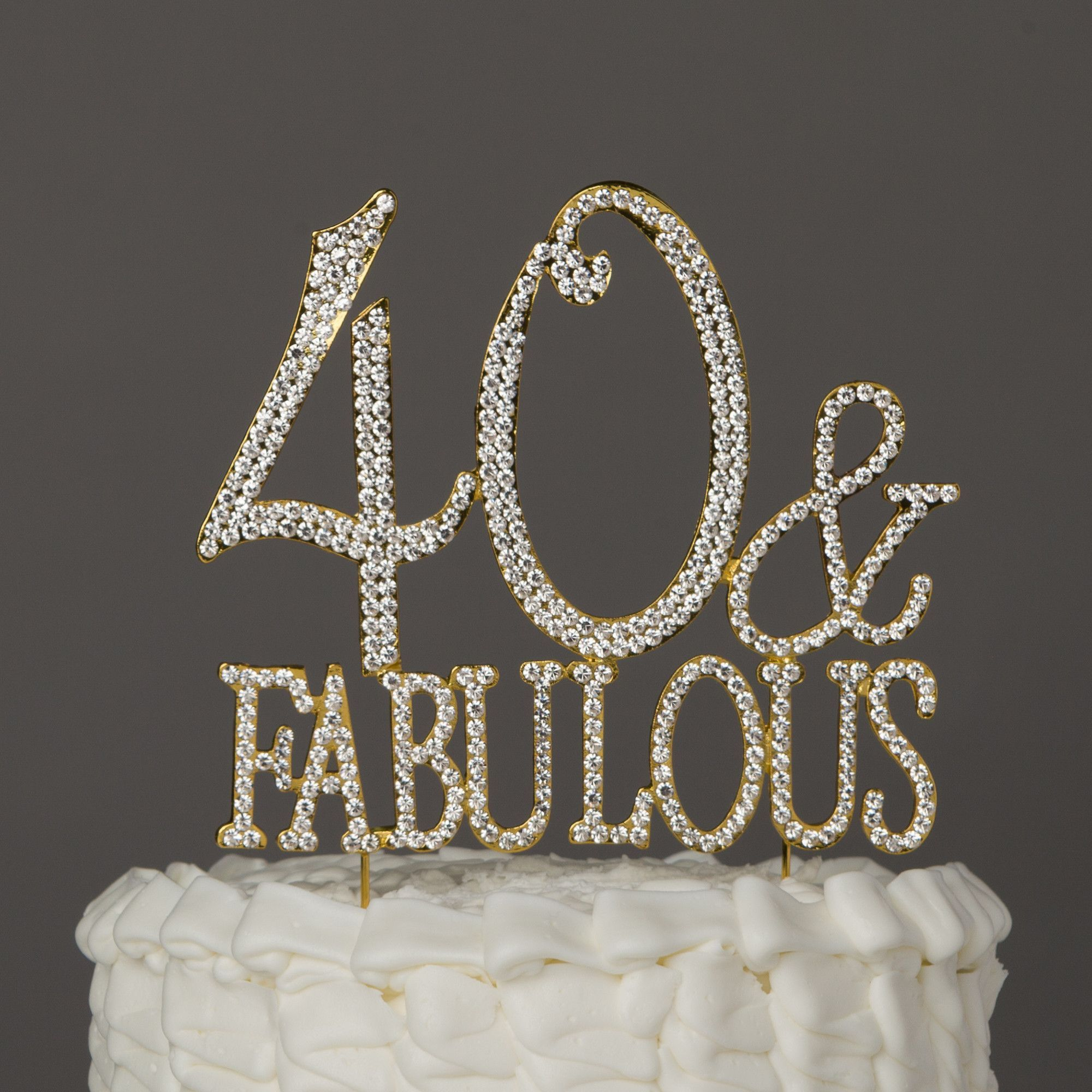 u fabulous cake topper gold th birthday decorations gold
