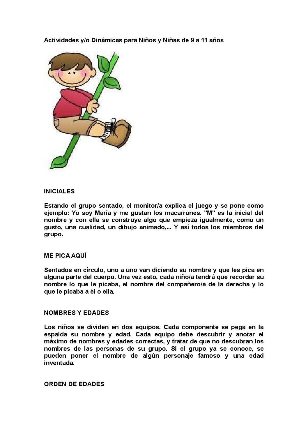 Actividades Para Recreo 1 Actividades Dinamicas Para Niños Recreo