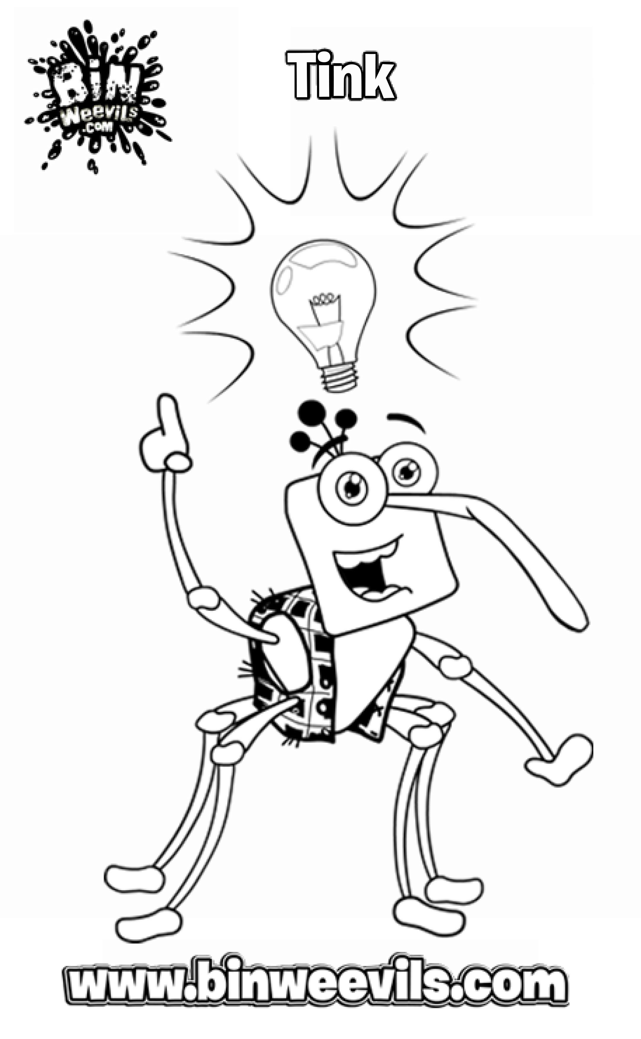 A Bin Weevils Colouring In Page