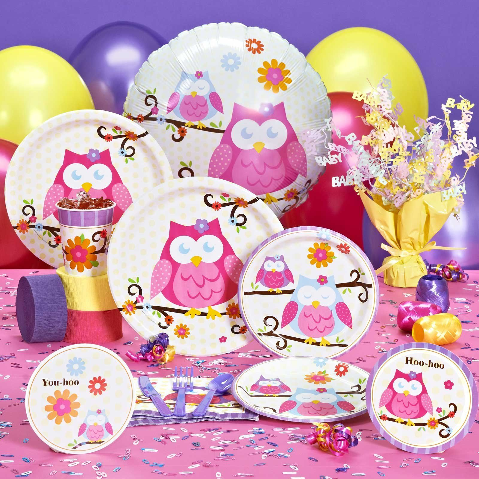Owl Baby Shower Supplies: Owl Blossom Baby Shower Party Supplies