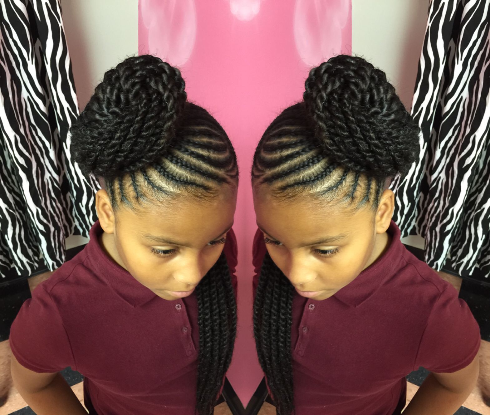 Cute but too much hair for a little girl. | Nakia inspired ...