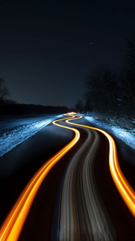 Dark Winding Road Wallpaper