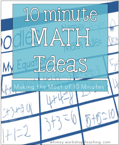 10 Minute Math Ideas   Primary classroom, Math and Numeracy