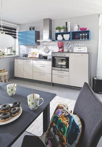 Eleganter Küchenblock in Anthrazit und Creme so macht