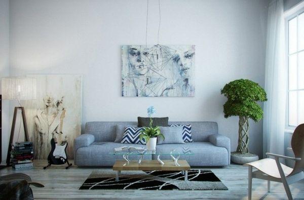 Wohnzimmer Wohnideen Farben Deko blau Wohnzimmer Pinterest