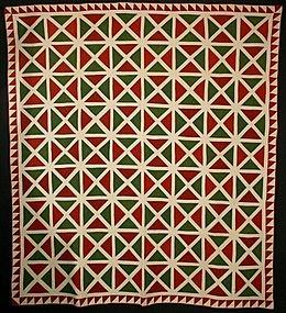 Historic patterns: Tri-colour:-X Pattern Quilt: Circa 1870 ... : historic quilt patterns - Adamdwight.com