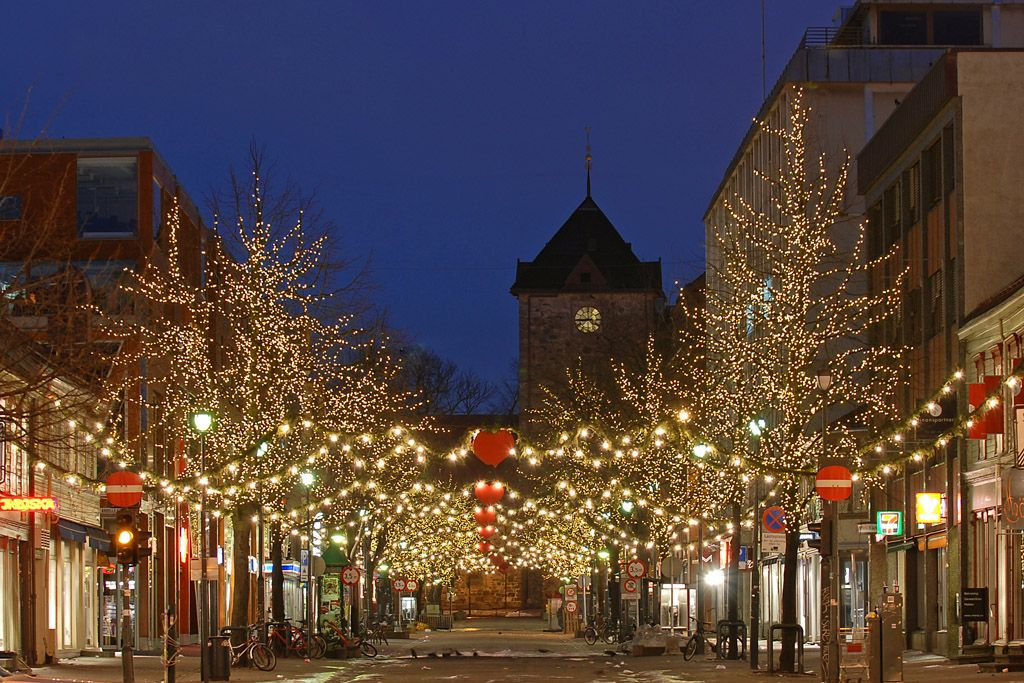 Trondheim Norway Christmas イルミネーション クリスマス