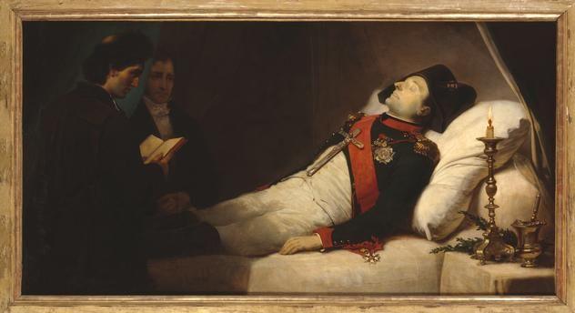 Napoleon Sur Son Lit De Mort Une Heure Avant Son Ensevelissement Mort Jean Baptiste Histoire