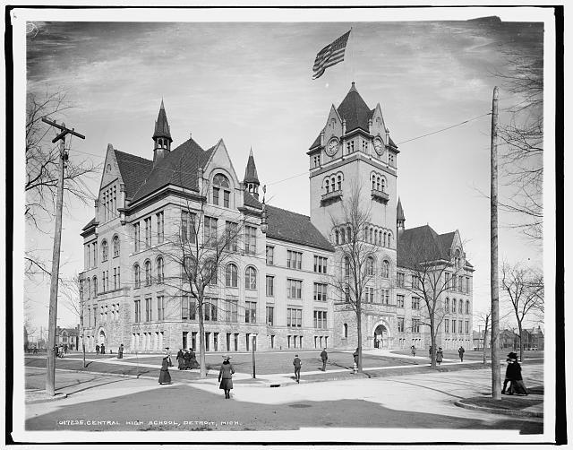 Central High School Detroit Mich 1904 Detroit History Detroit Wayne State University