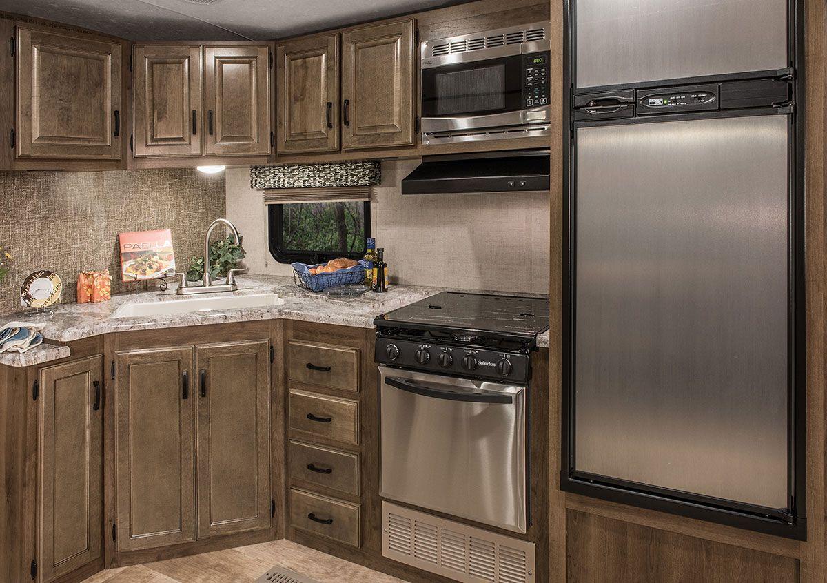 Spree S322rl Luxury Lightweight Travel Trailer K Z Rv Kitchen Cabinets For Sale Kitchen Cabinets Kitchen Furniture Storage