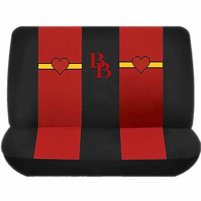BLACK AND RED BETTY BOOP MATCHING BB BENCH SEAT COVER FOR CARS TRUKS VANS SUVS