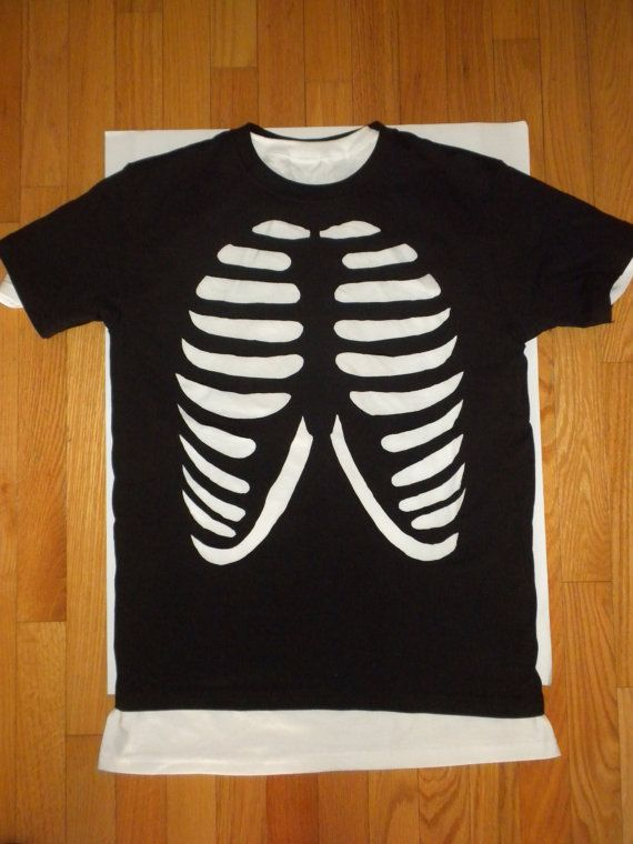 e51fc31b Rib Cage cut out shirt Made To Order | Halloween | Halloween cosplay ...