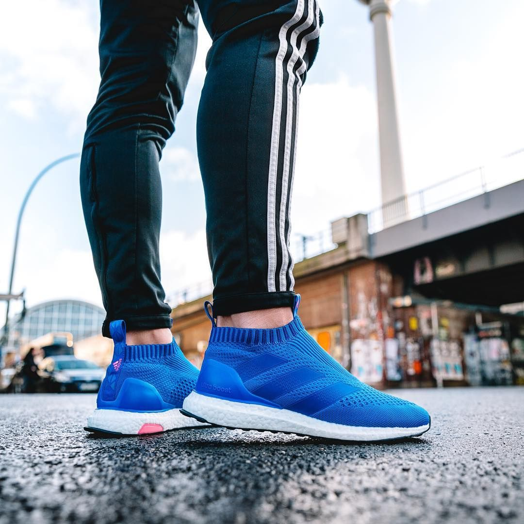 The new Adidas Ace 16+ PureControl Ultra Boost introduces a bold look in  blue and pink 63a16f603a