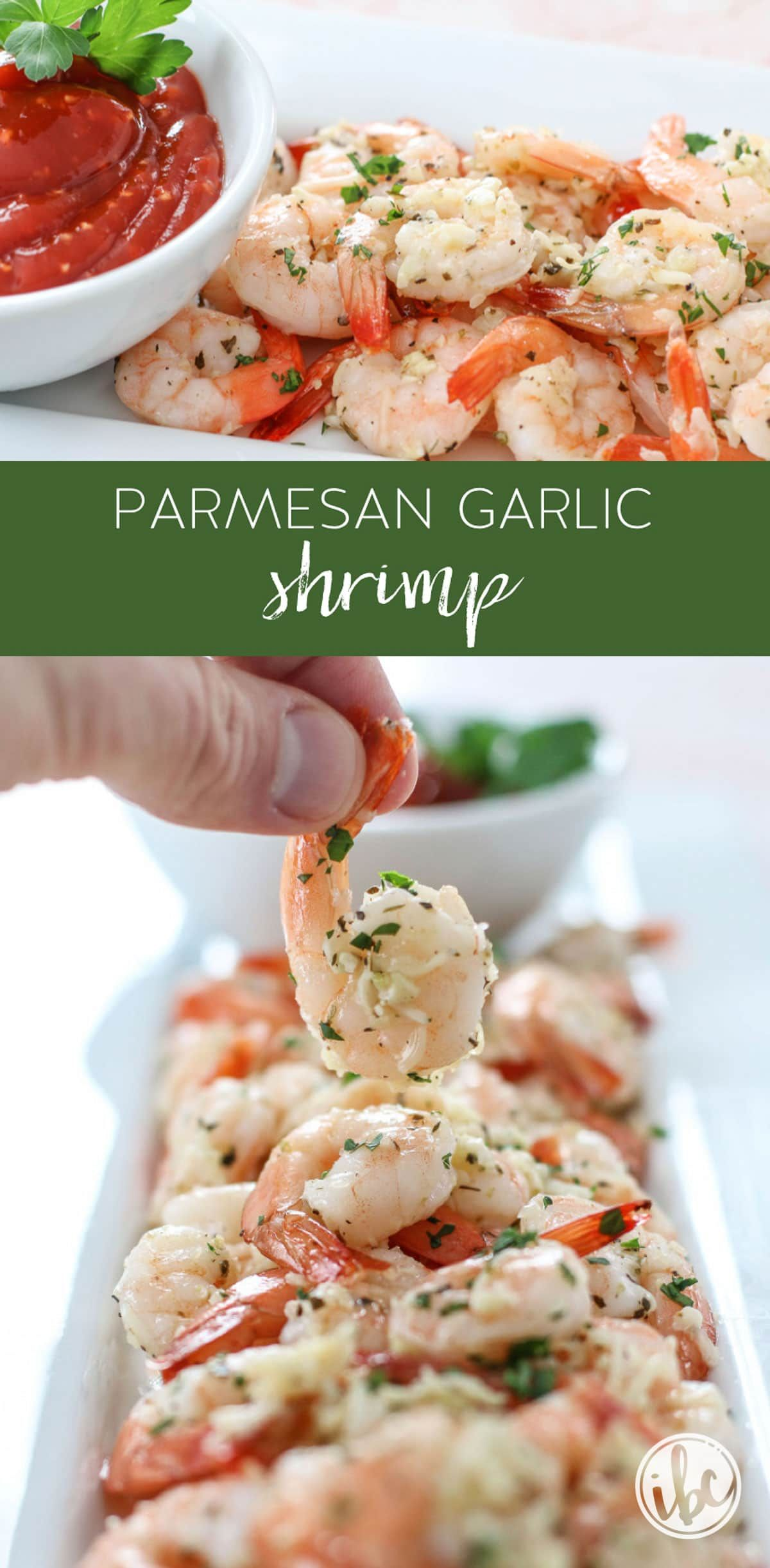 Roasted Parmesan Garlic Shrimp makes a delicious appetizer recipe!  via @inspiredbycharm