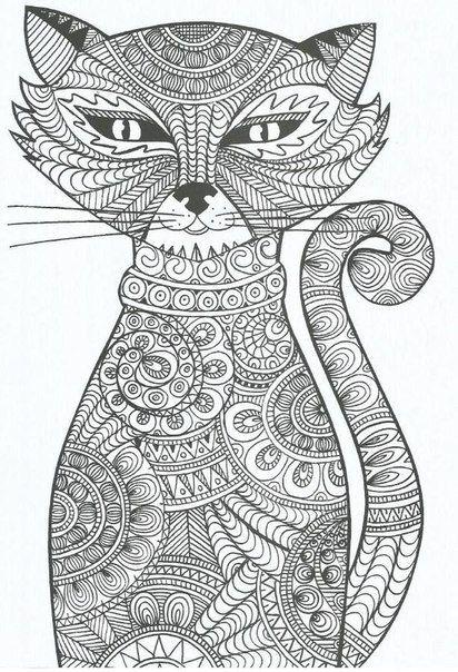 Ausmalbilder Katzen - kostenlose Malvorlagen zum Ausdrucken ...