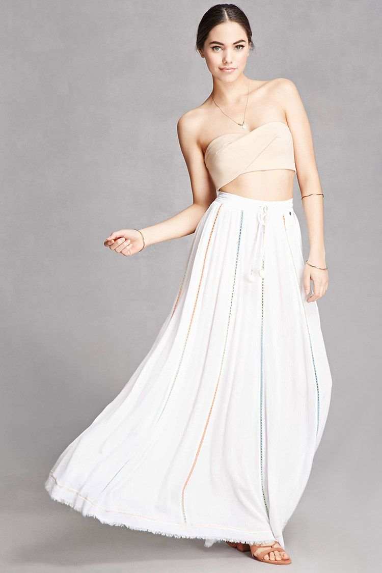 A woven crinkled maxi skirt from z and l europeutrade featuring a