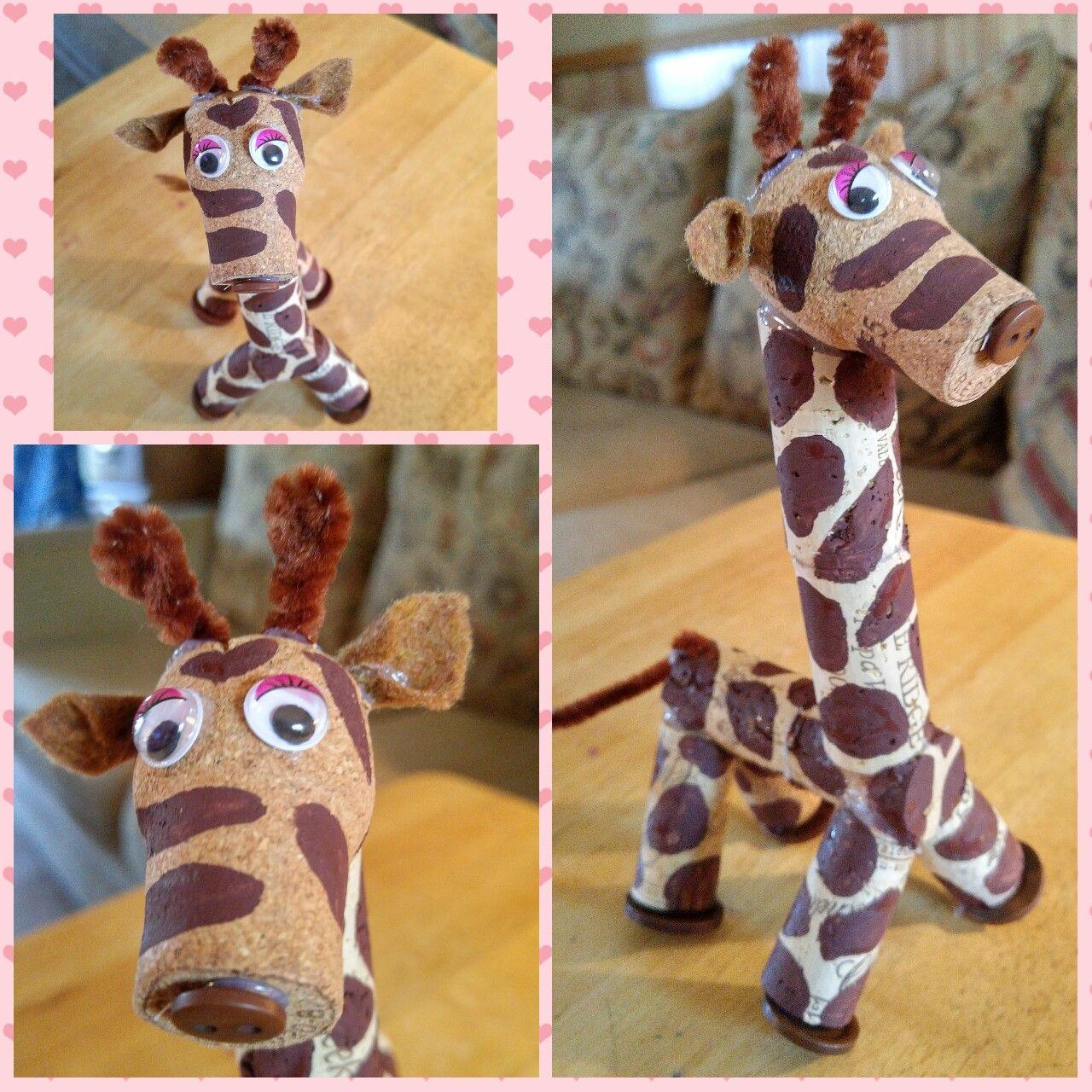 Cork Giraffe / Cork Animals Wine cork ornaments, Wine