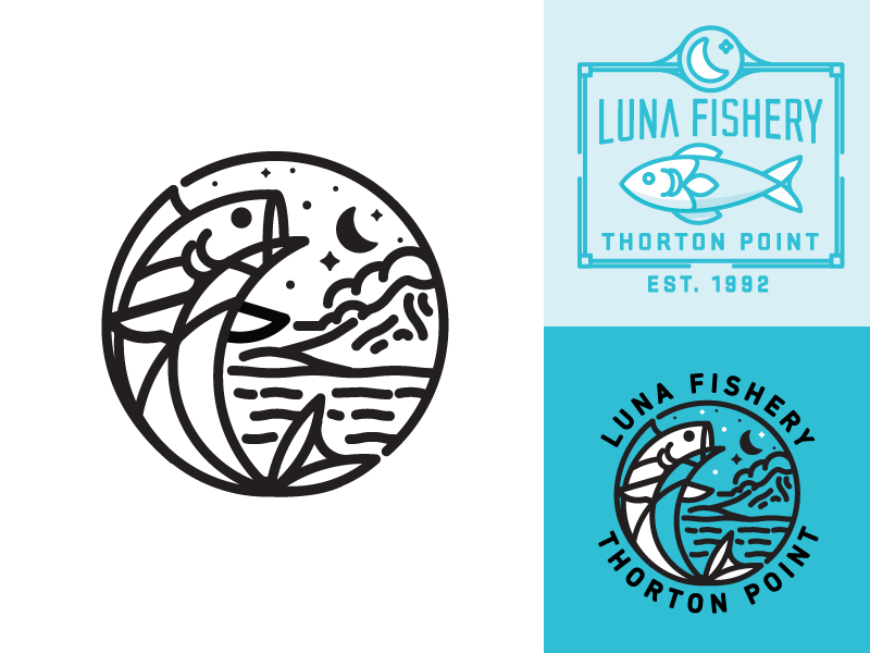 This logo uses a nice simple pallet and the eye instantly focuses on the fish. Its easy to understand and is still detailed, but not overwhelming.