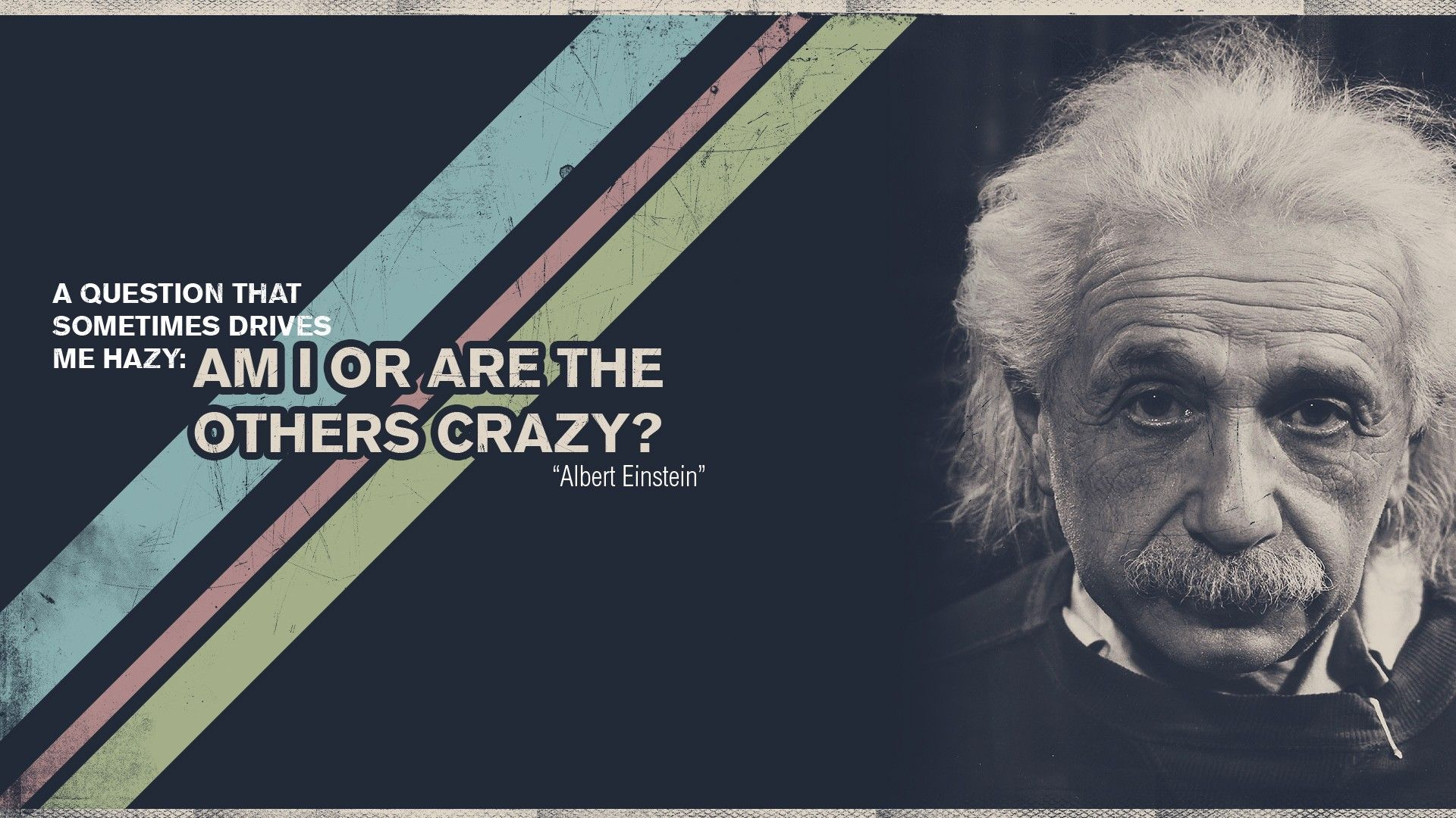 Albert Einstein Motivational Quote Hd
