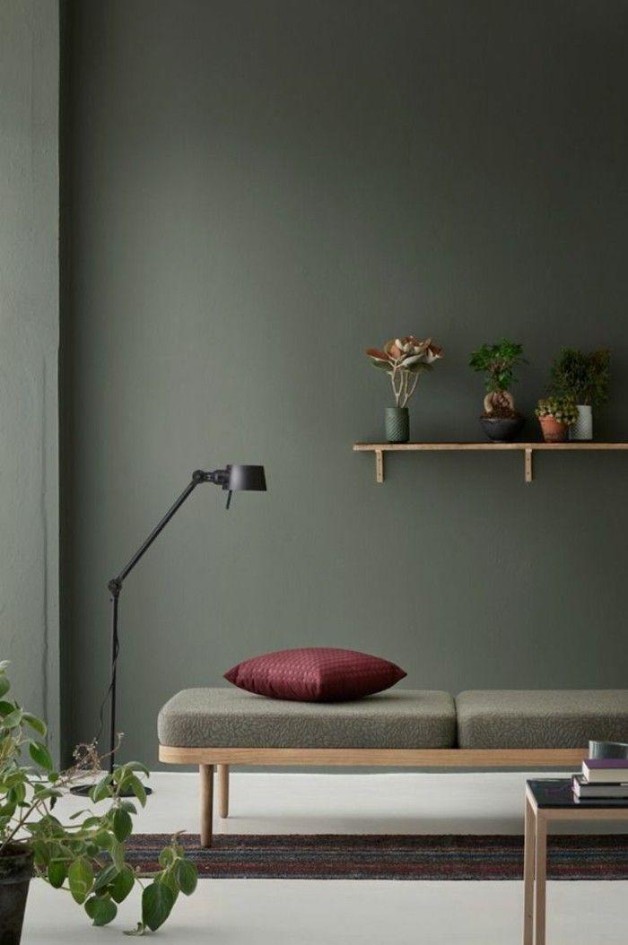 Schlichtes Wohnzimmer Farblich Gestalten Petrol Wandfarbe