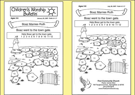 free printable church bulletins |  church lessons | sample