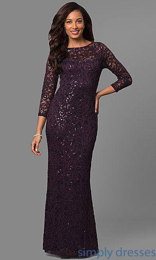 Lace Mother Of The Bride Formal Dress With Sleeves Formal Gowns