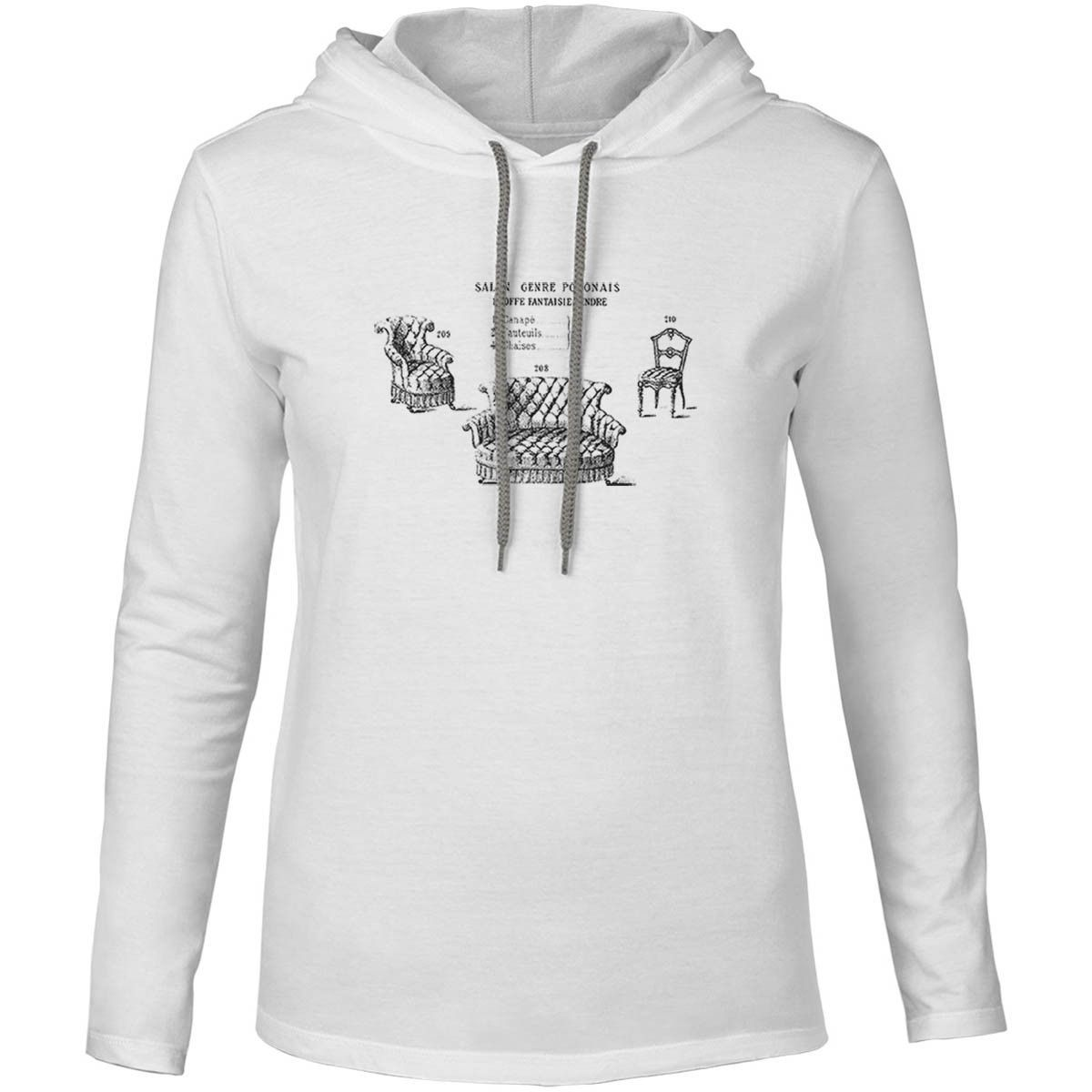 Mintage Antique French Furniture Mens Fine Jersey Hooded T-Shirt