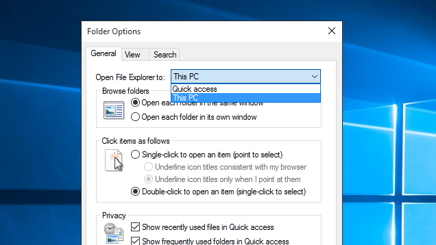 Open Windows Explorer At This Pc Instead Of Quick Access Open Window Quick Access Windows