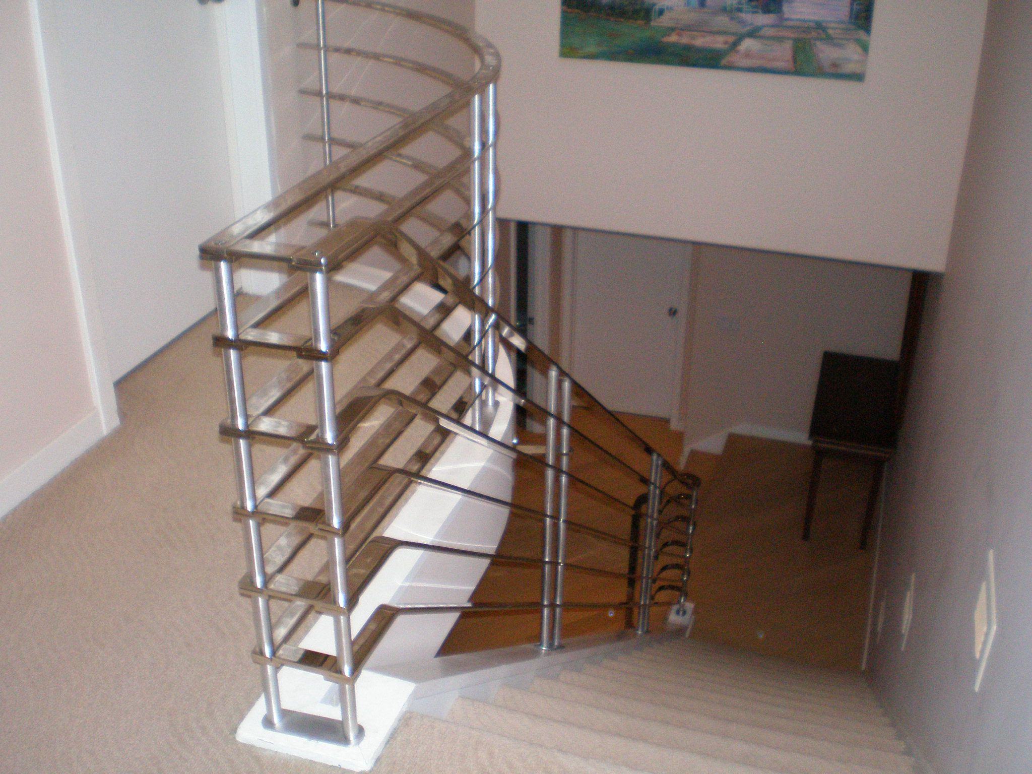 Best Chrome Plated Stair Railing Art Deco Fabulousness Jmr 640 x 480