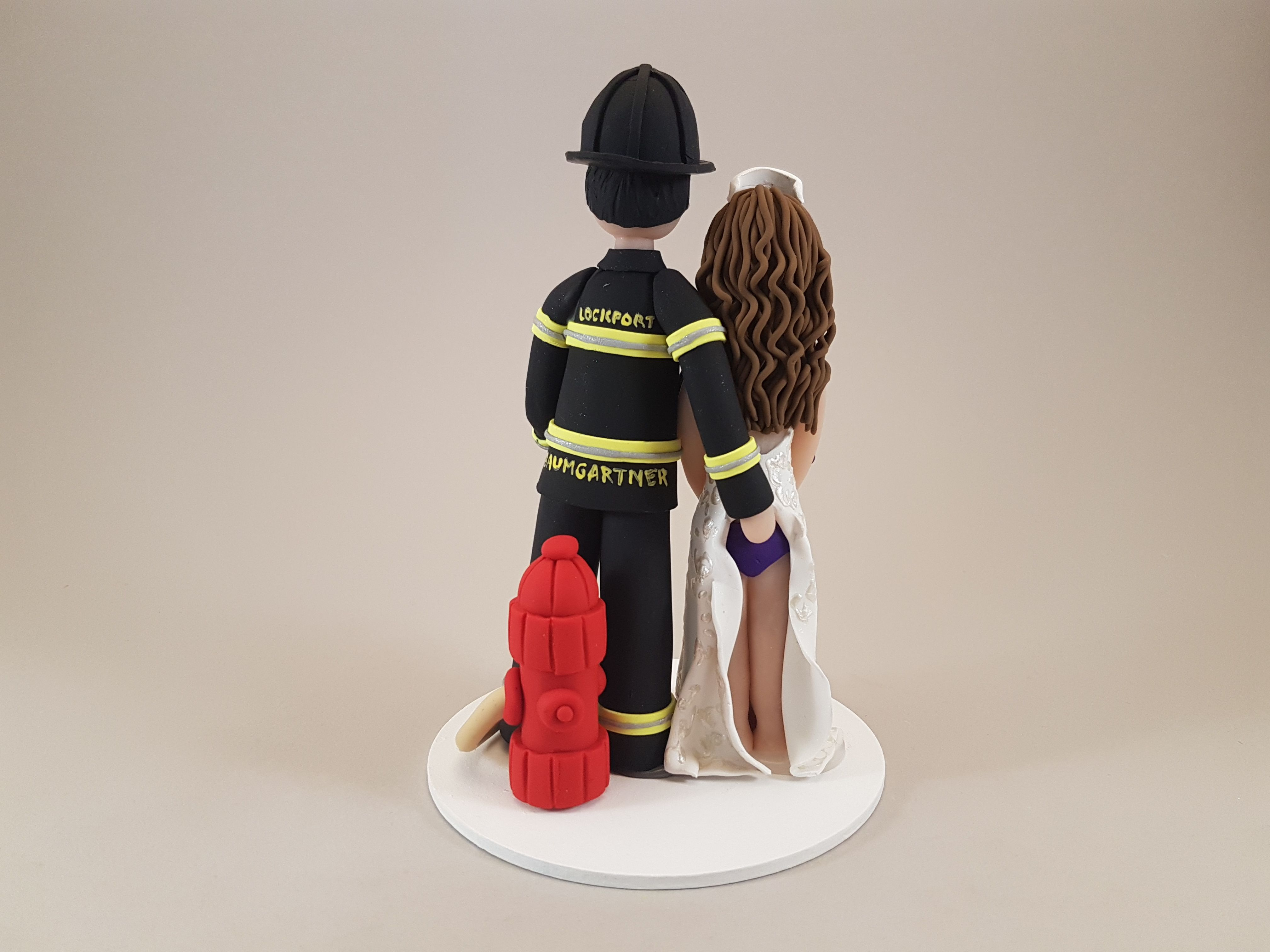 Firefighter And Sexy Nurse Personalized Bride Amp Groom