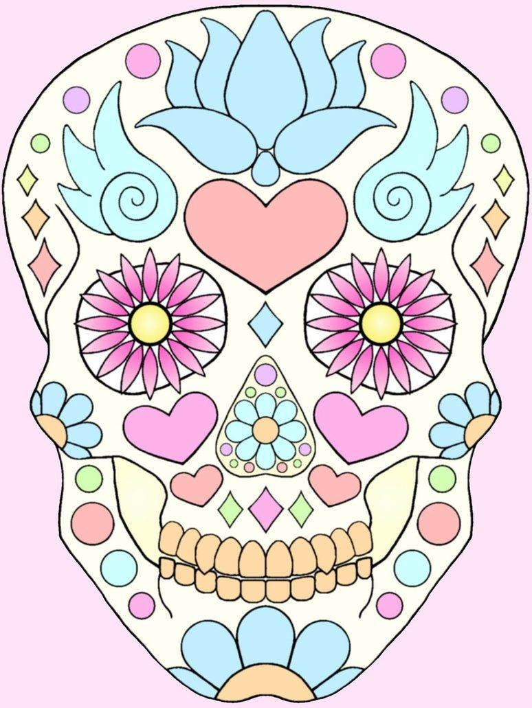 Original drawing for sugar skull skirt by ~TechnicolorWarrior on deviantART