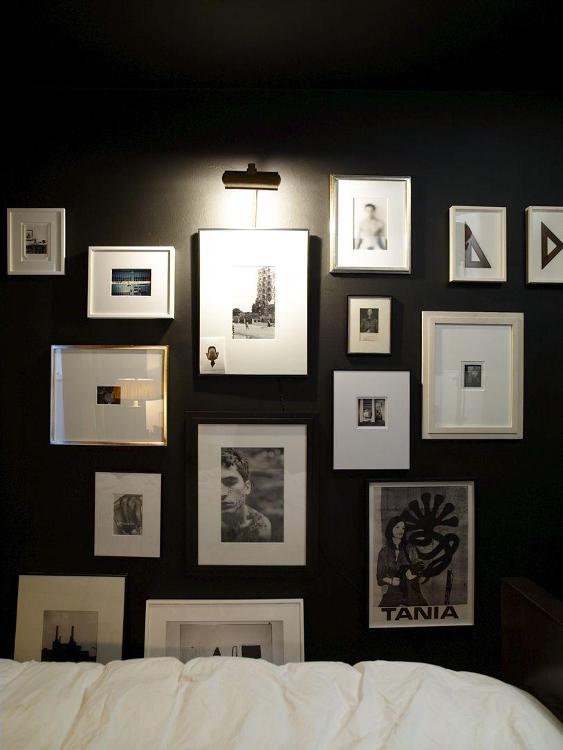 Arranging photos on a wall - Arranging Photos On The Wall Ideas