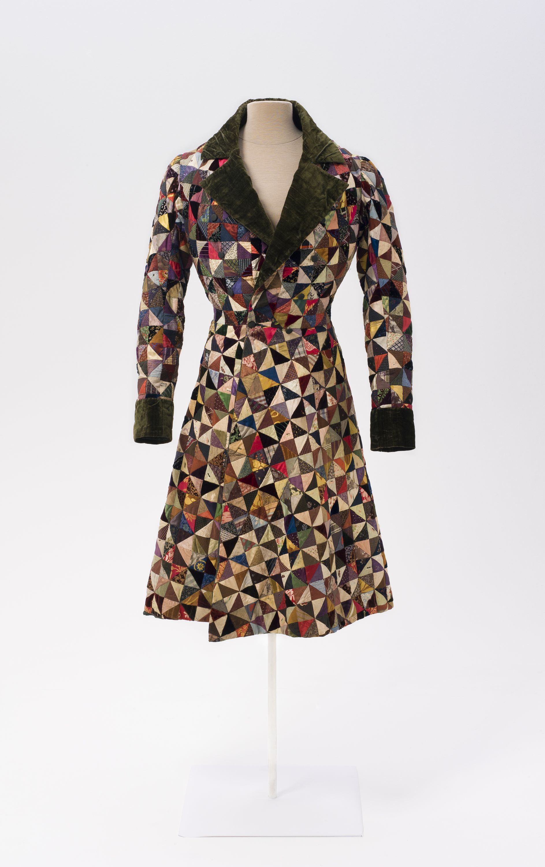 This patchwork dressing gown or smoking jacket is a well-preserved ...